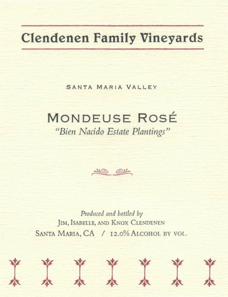 CFV - Mondeuse Rose - Label