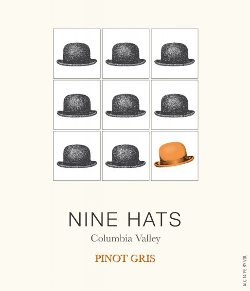 LS - Nine Hats Pinot Gris - Label