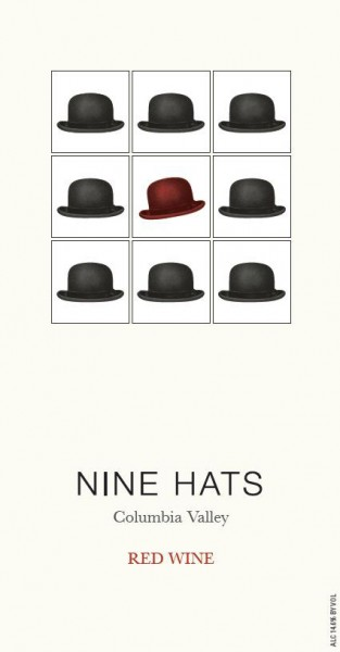 LS - Nine Hats Red Blend - Label