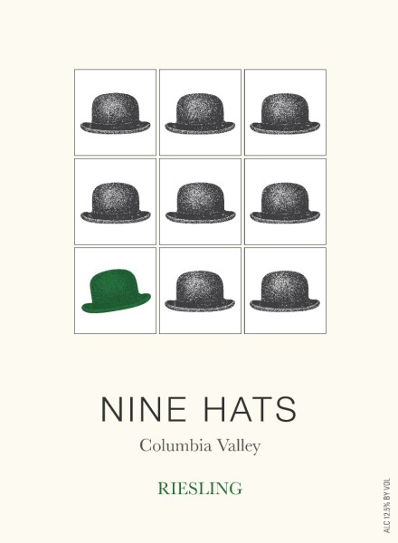 LS - Nine Hats Riesling - Label