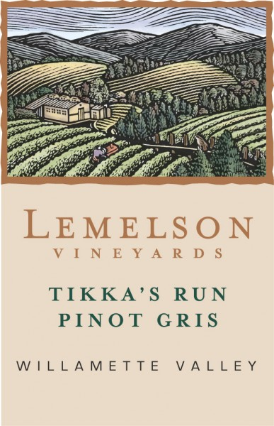 Lemelson - Pinot Gris - Label