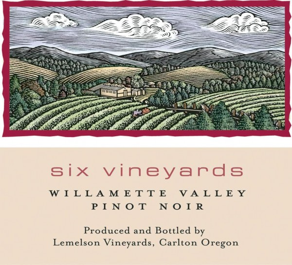 Lemelson - Six Vineyards PN - Label