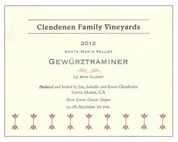 CFV - Gewurztraminer 2012 - Label