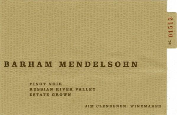 ABC - Barham Mendelsohn Pinot Noir- Label