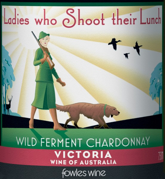 Fowles - Ladies Who Shoot - Chardonnay - Label